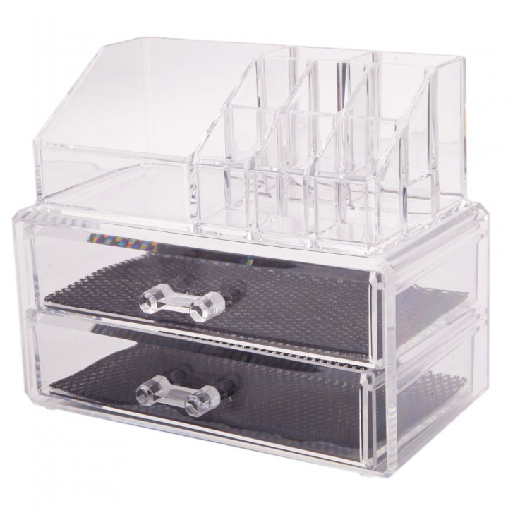 Holder Makeup Case Drawers Cosmetic Organizer Jewelry Storage Acrylic Display transparent