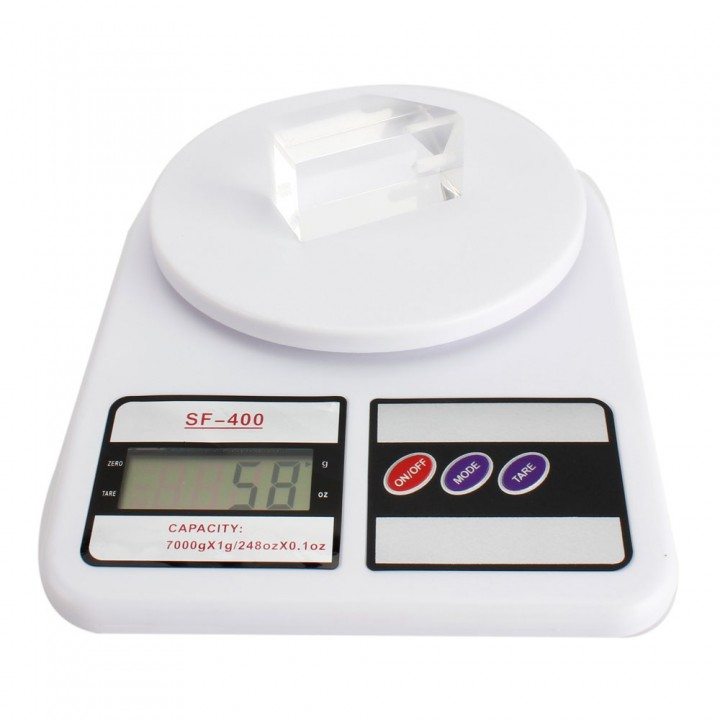 Digital LCD Electronic Kitchen Postal Scale Postage Parcel Weighing Scale 7Kg white one size