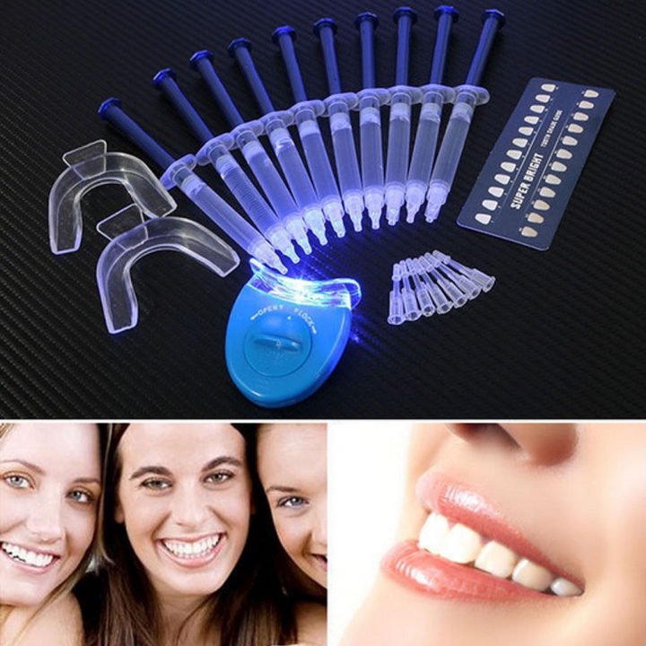 10% Peroxide Teeth Whitening Gel Kit Tooth Bleaching Whitener Oral Light System as picture