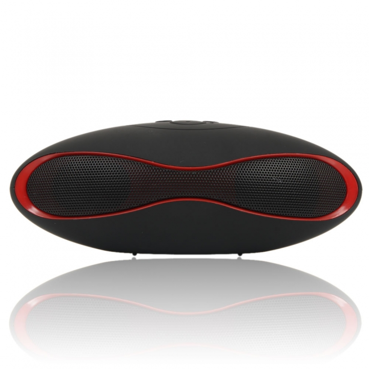 Mini Football Bluetooth Wireless Speaker Super Bass Portable for Mobile iPhone Samsung Tablet PC Black&Red
