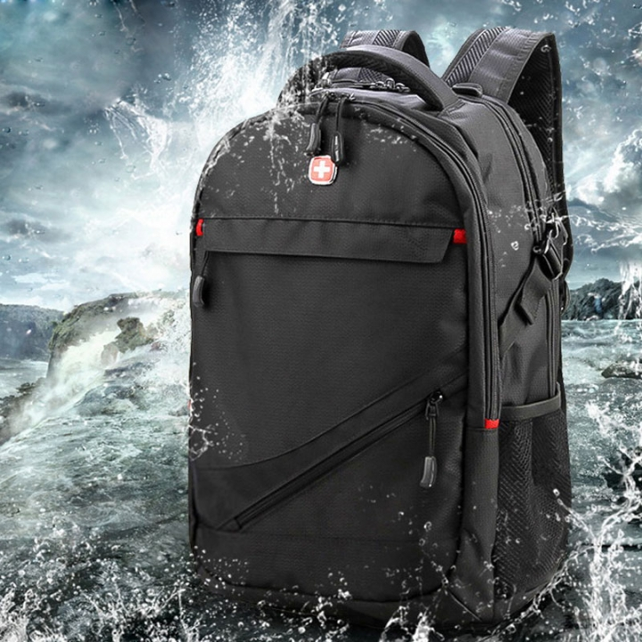 "Men's Women Travel Backpack School Bag 17"" Computer Laptop Bag Swiss Gear black one size"
