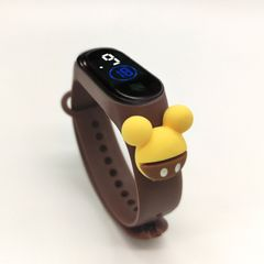 New Fashion Cartoon Children's Watch LED Electronic Touch Waterproof Girls Boys Watch Toys Gifts Brown one size