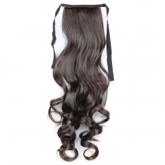 Fashion Wave Boutique Long Capless Heat Resistant Fiber Ponytail For Women 06# 55cm