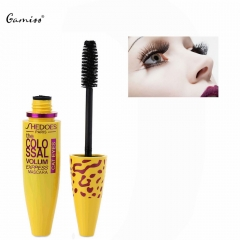 Black Eyelash Eye Mascara Long Silicone Brush Black
