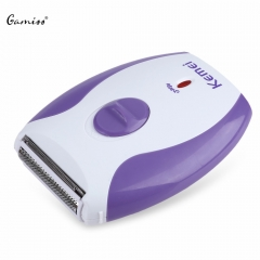 Kemei KM - 280R Mini Electric Hair Remover Rechargeable Shaver Body Face Leg Bikini Shaving Machine as the picture