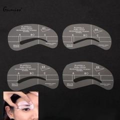 Gamiss 4pcs/set Styles Eyebrow Stencils Grooming Kit Make Up Shaping DIY Beauty Eyebrow Template as the picture