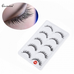 Hand Made Thick Crossover False Eyelashes Pro 5 Pairs Cross False Eyelashes Natural Women Eyelashes black