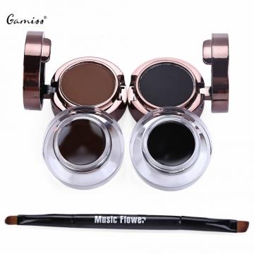 Hot Sale Fashion Magic Professional Eyebrow Powder Waterproof Eyeliner Gel Set Brush Mirror Makeup colormix