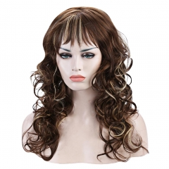 Outstanding Charming Long Deep Wavy Towheaded Mixed Color Women's Synthetic Wig COLORMIX 48cm