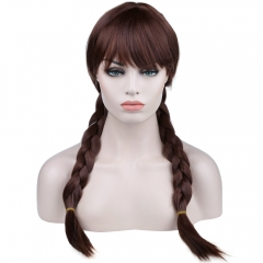 Cosplay Comic Animation Hair Wig brown one size