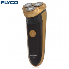 FLYCO FS360 Floating Shaver Rechargeable Electric Razor Golden