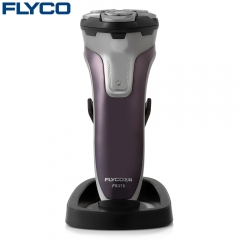 FLYCO FS376 Floating Shaver Washable Rechargeable Electric Razor dark purple
