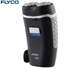 FLYCO FS829 Rotatable Dual Head Electric Shaver Cordless Rechargeable Razor black