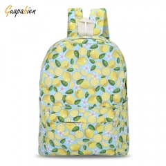 Guapabien Canvas Teens Print Backpack Traveling School Bag yellow one size