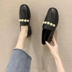 Shoes women's PU leather soft sole comfortable ladies shoes Black 40