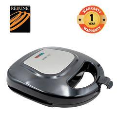 Rebune RE-5-068S Pancake & Toaster & Sandwich Maker 750W Non-Stick Coating Black