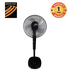 "Rebune 50W 16 ""  Household Appliances 3 Speeds Stand Fan(RSF-16-006) Black"