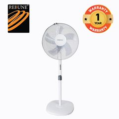Rebune 50W Household Appliances 3 Speeds Stand Fan( RSF-16-005) White