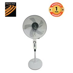 Rebune 18'' Inch 4 Speeds Stand Fan (RSF-18-001) White