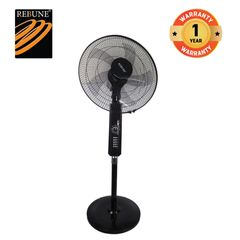 Rebune 55W18 Inch 3 Speeds Stand Fan (RSF-18-003) Black