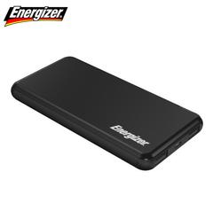 Energizer 10000mAh Fast Charging Lithium Polymer Power Bank, UE10046, Dual 2.1 USB-A Output Black 10000