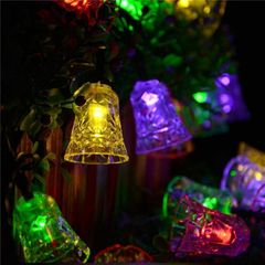 Decorating Birthday Celebrate Festival Light Holiday Light Color Light Bell Shaped As Picture 6 meters with 40 bulbs