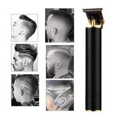 2020 New Cordless Zero Gapped Trimmer Hair Clipper- Outlining - designing - shaving Black as picture