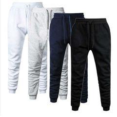 Men Casual Pants Fitness Men Sportswear Tracksuit Men Clothes Sweatpants Trousers Gyms Track Pants men clothes M navy blue