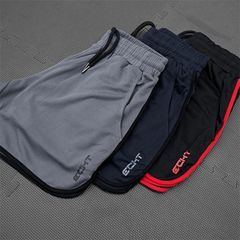 Men Fitness Shorts Man Gyms Workout Male Breathable Quick Dry Sportswear Running Short Pants clothes L navy blue