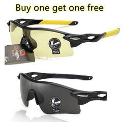 2 pack black+yellow Colorful film sports men lady outdoor cycling glasses explosion-proof sunglasses Black-Yellow one size