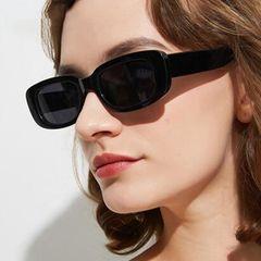 Small Rectangle Sunglasses Women Vintage Brand Designer Square  Sunglasses brown