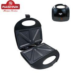 RASHNIK RN-1702 2 Slicer Electronic Sandwich Toaster Maker Black
