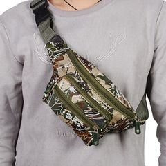 Men's waist bag ladies outdoor sports bags phone bags shoulder bag chest bag gift for father camouflage One size