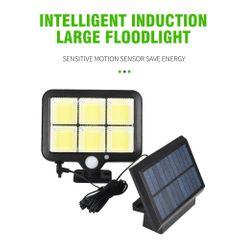 120LED Solar Powered Light Outdoors Motion Sensor Sunlight Waterproof Wall Street Security Lamp Type1 one size 10W