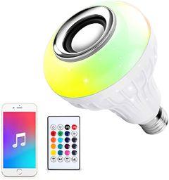 E27 LED Bluetooth Music Remote Control Light Bulb Smart RGBW Bulb 12W Sound Home Lamp White one size 12w