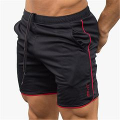 New camouflage color breathable fitness muscle brothers sports shorts running quick-drying pants Black XXL