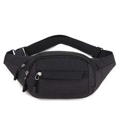 New waist bag men and women waterproof bag shoulder bag sports outdoor running mobile phone bag Black
