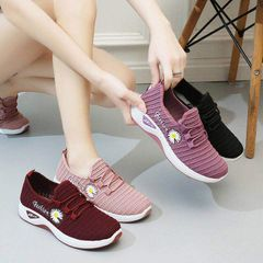 New women shoes 2021 small daisy mesh sports shoes all-match student shoes mother shoes running Pink 40