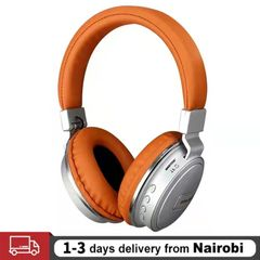 2021 New Wireless Headphones Bluetooth Headset Branded Wholesale Top Sale BT Stereo Mobile Multifunctional Use Headphones  For Android IOS Iphone Orange