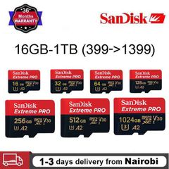 Sandisk Extreme TF Card 16GB 32GB 64GB 128GB 256GB 512GB 1T A2 C10 U3  V30 Micro SD Memory Card Red SANTF 32 GB Micro SD