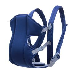 Baby Carrier Sling Multifunctional Double Shoulder Baby Carrier Blue one size