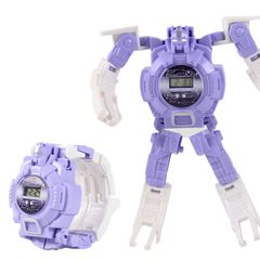 Children's deformation electronic watch King Kong small toy luminous deformation watch Purple one size