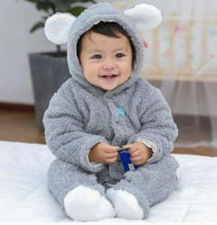 Baby's new one-piece romper romper outing clothes Gray 80cm
