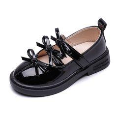 Girls Shoes Autumn girl bow children's princess shoes Casual Shoes Black 27