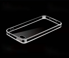 Apple iPhone4s Anti-fall[transparent]TPU rubber protective Case Transparent shell for iPhone 4/4s White one size