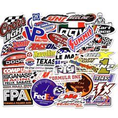 50PCS   Automobile Race Graffiti Stickers Luggage Laptop Skateboard Car  Novelty & Gag Toys 50Pcs 4-8cm