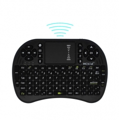 Mitid 2.4GHz Wireless Mini Keyboard with Mouse Touchpad Combos for Computer and TV Box Black One Size