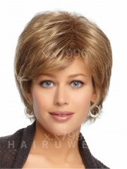 Sexy Ladies Short Straight Hair Women's Wigs Natural Brown Cosplay Party + free wig cap sw0141 Brown Medium