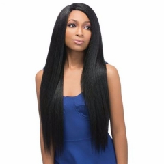 "28"" Cheap Long Straight Wigs for Black Women Anime Heat Resistant Synthetic Hair + free wig cap 805 black medium"