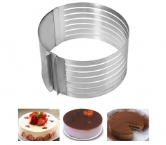 Retractable Stainless Steel Circle Mousse Cake Slicer Mold Cut Tool Ideal tool for decorating cake as the picture